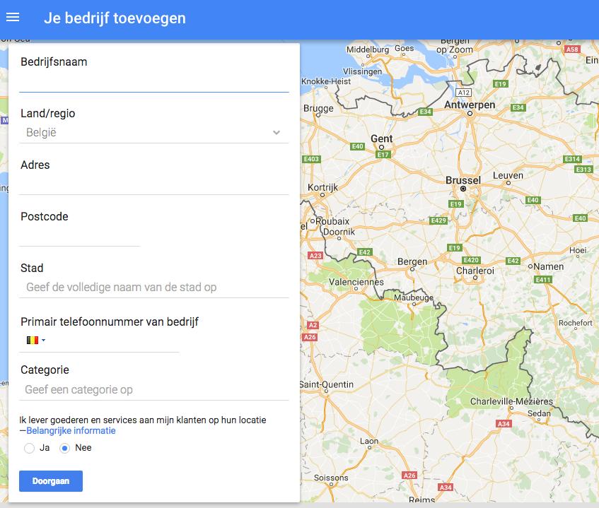 Screenshot Google Mijn Bedrijf